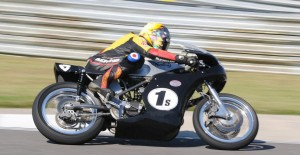 Maria Costello wins American Historic races on a Seeley Norton 750