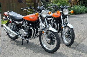 Rare pair of collectable Kawasaki Z1s for sale