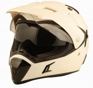 Duchinni D311 Dual Adventure Helmet in White