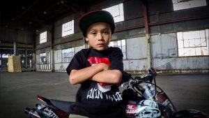 6-Year-Old Stunt Rider Shows His Skills