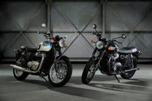 Entry Level New Triumph Bonneville T100 and T100 Black