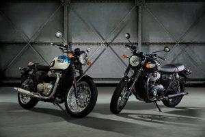 Entry Level New Triumph Bonneville T100 and T100 Black