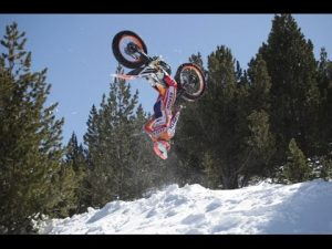 Trials Champ Toni Bou Takes On The Snow