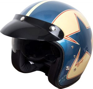 Duchinni D501 Garage Helmet Blue Red Metallic