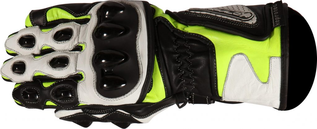 Buffalo BR30 Summer Motorcycle Gloves Black Neon Side