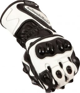 Buffalo BR30 Summer Motorcycle Gloves Black White