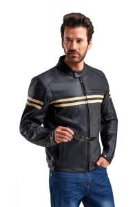 Classic Look for the Weise Brunel Leather Motorcycle Jacket