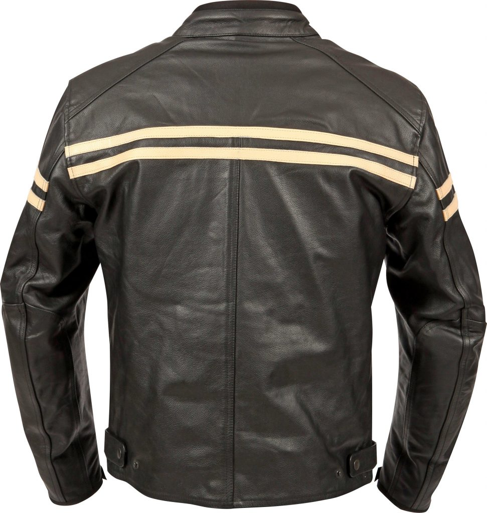 2017 Weise Brunel Leather Motorcycle Jacket Rear Cream