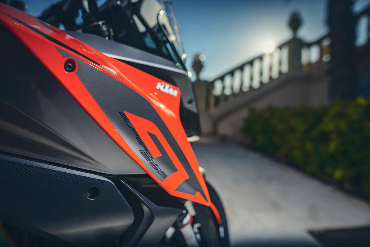 2017 KTM 1290 Super Duke GT With Free PowerParts Touring Package Tank Detail