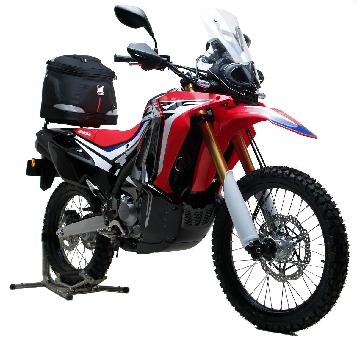 honda crf 250l rally gets the ventura bike-pack luggage system