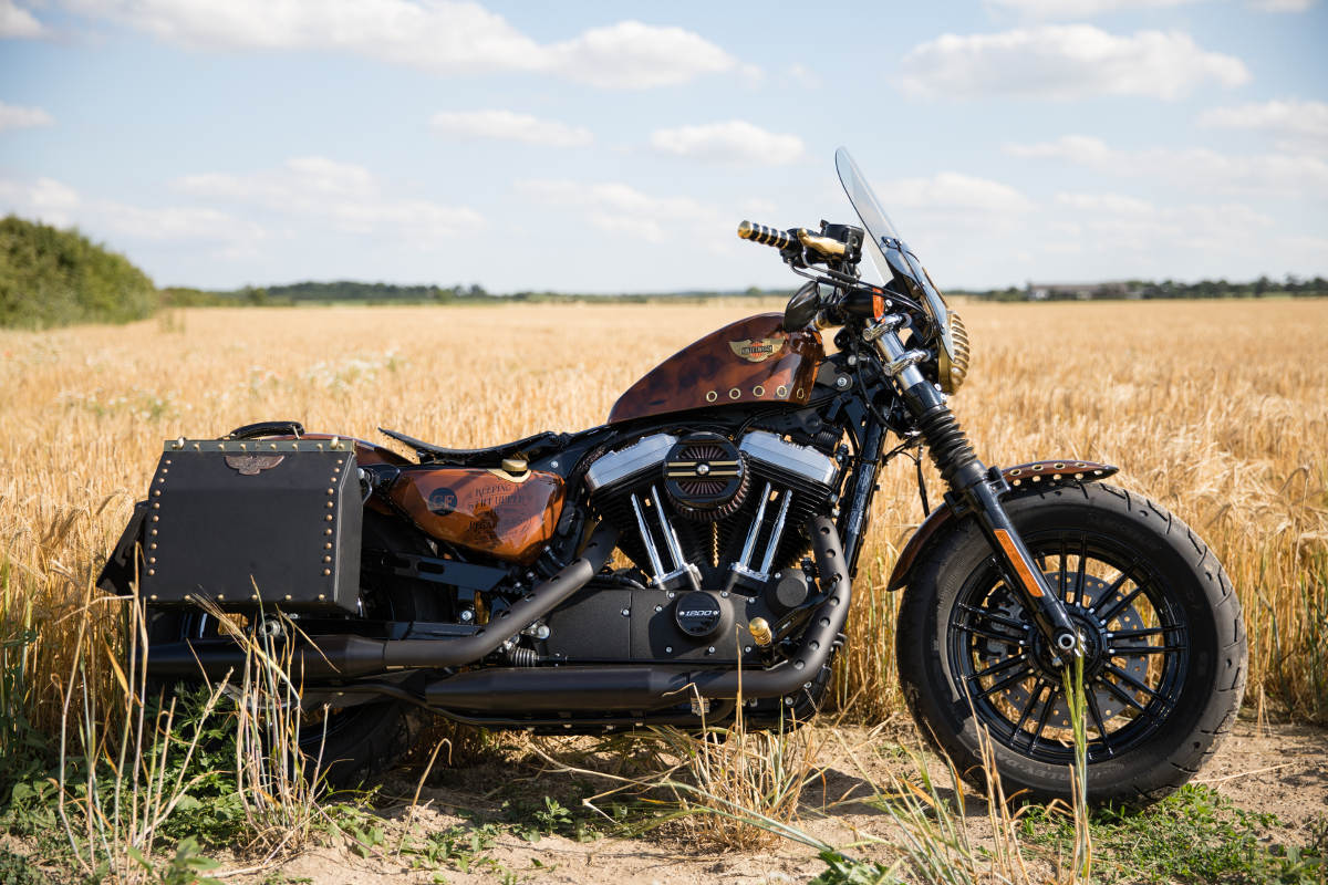 Captain Fawcett Custom Steampunk Harley-Davidson Sportster Forty-Eight (14)
