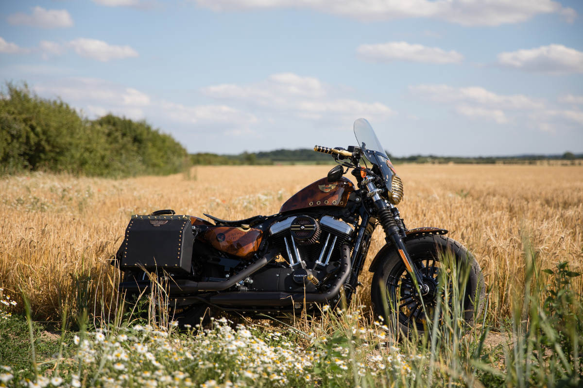 Captain Fawcett Custom Steampunk Harley-Davidson Sportster Forty-Eight (15)