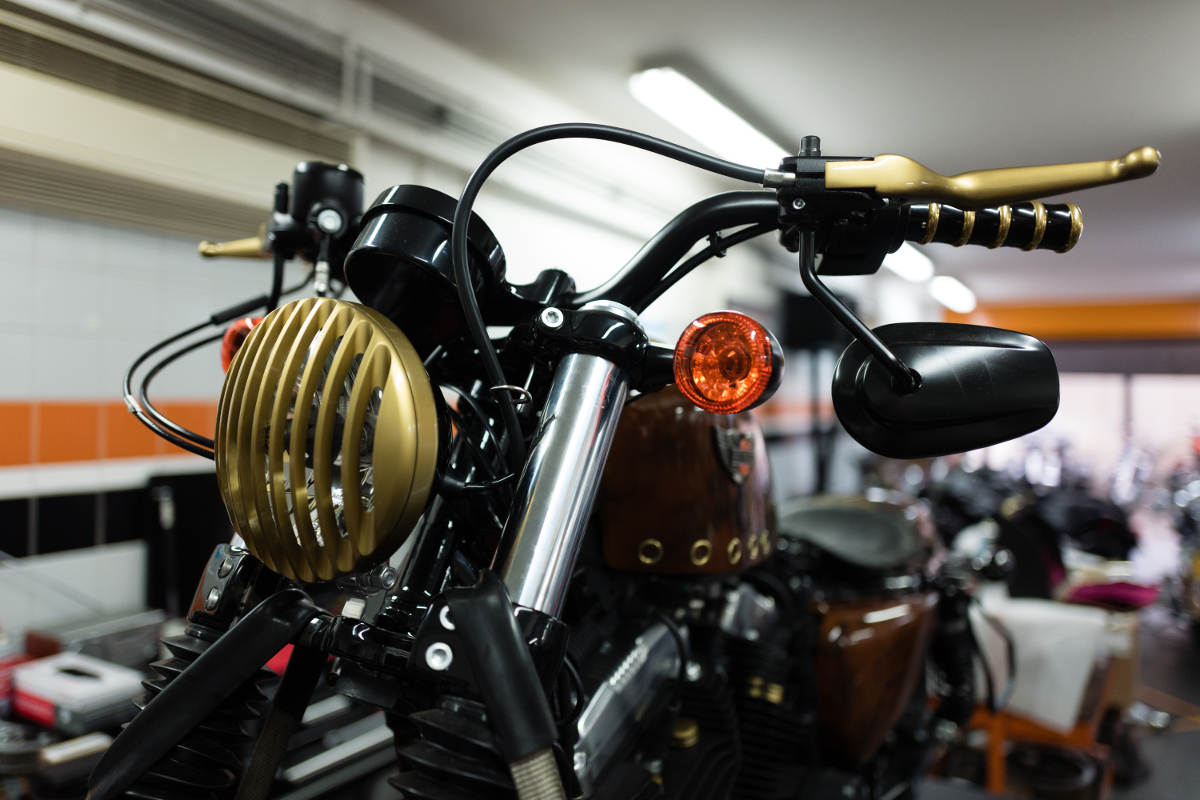 Captain Fawcett Custom Steampunk Harley-Davidson Sportster Forty-Eight (5)