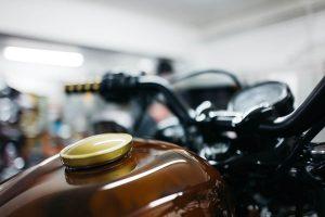 Custom Steampunk Harley-Davidson Sportster Tank Detail