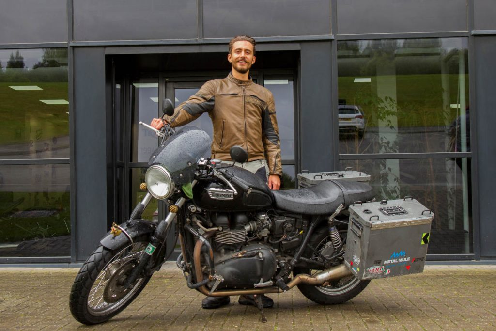 New Record for Youngest Round The World Motorcycle Rider Kane Avellano