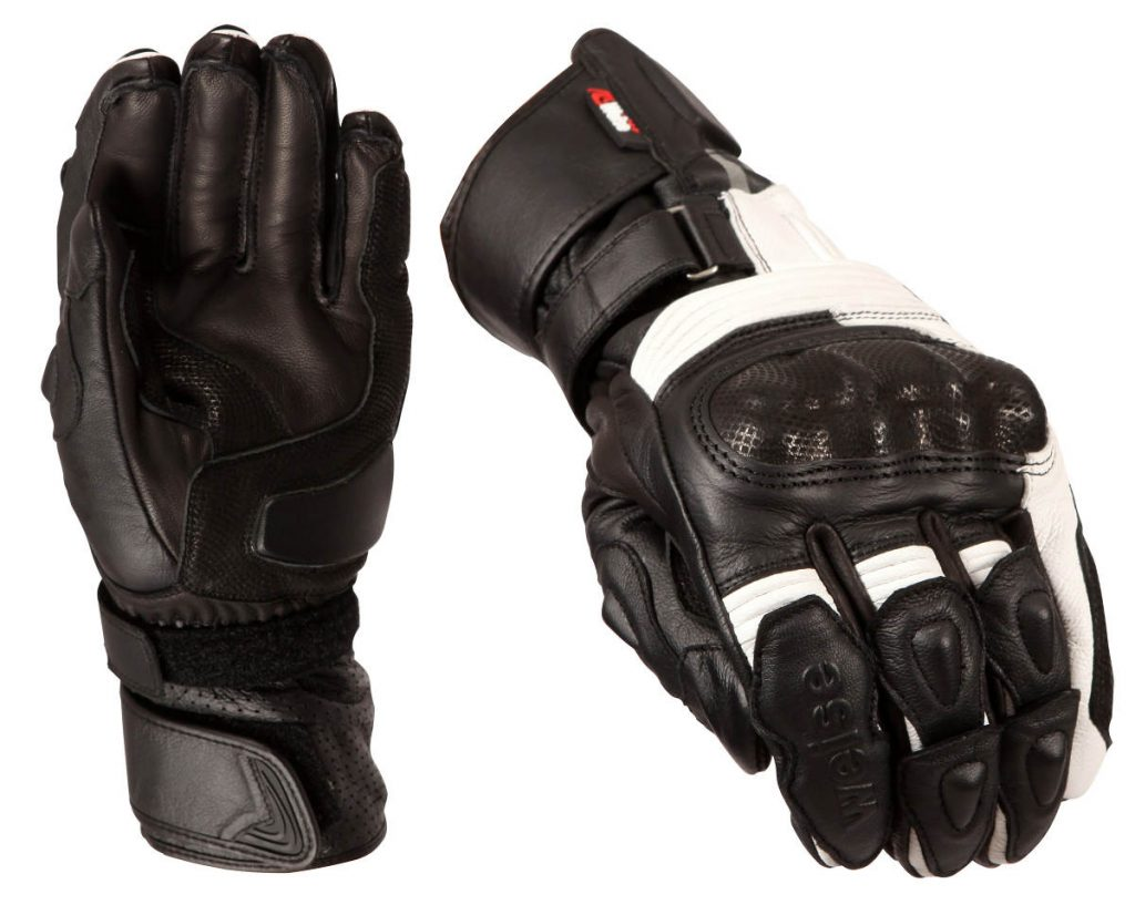Weise Renegade Motorcycle Gloves Black White