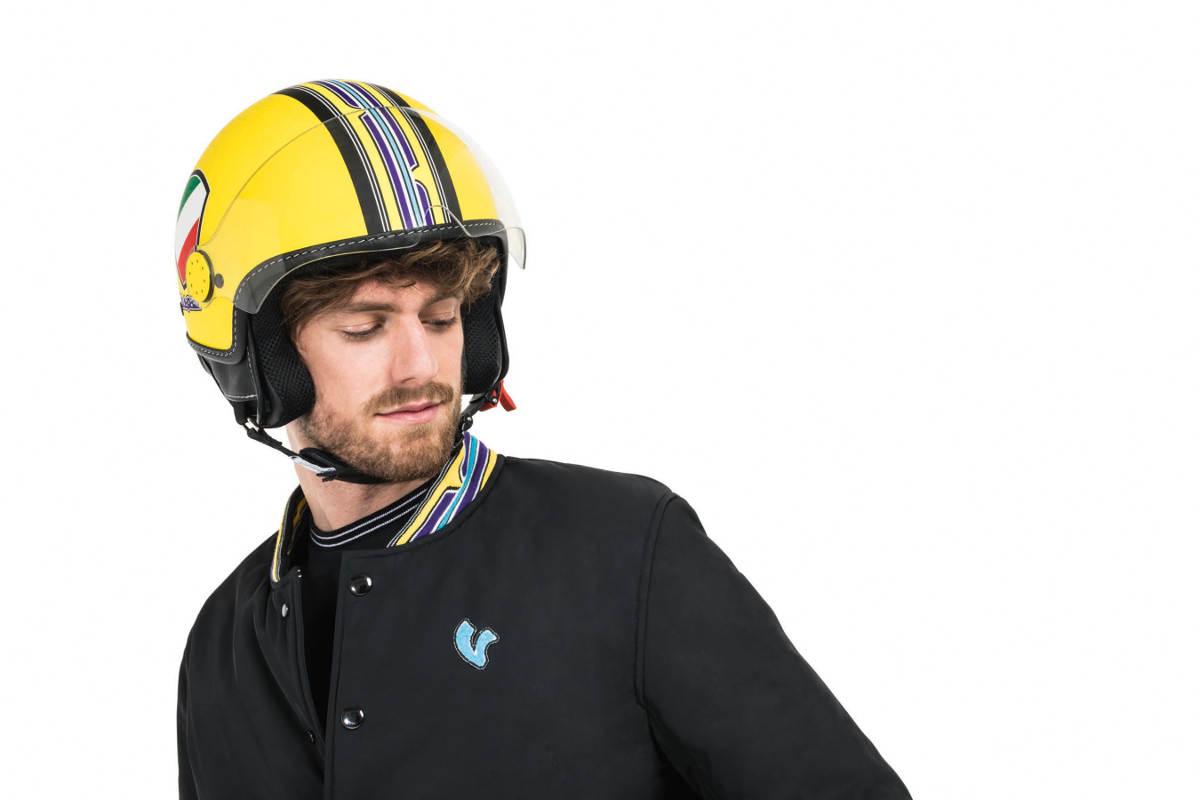Bright New Vespa V Stripe Helmets Rescogs