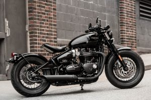 The new 2018 Triumph Bonneville Bobber Black