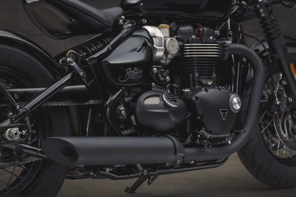 2018 Triumph Bobber Black Engine and Exhaust
