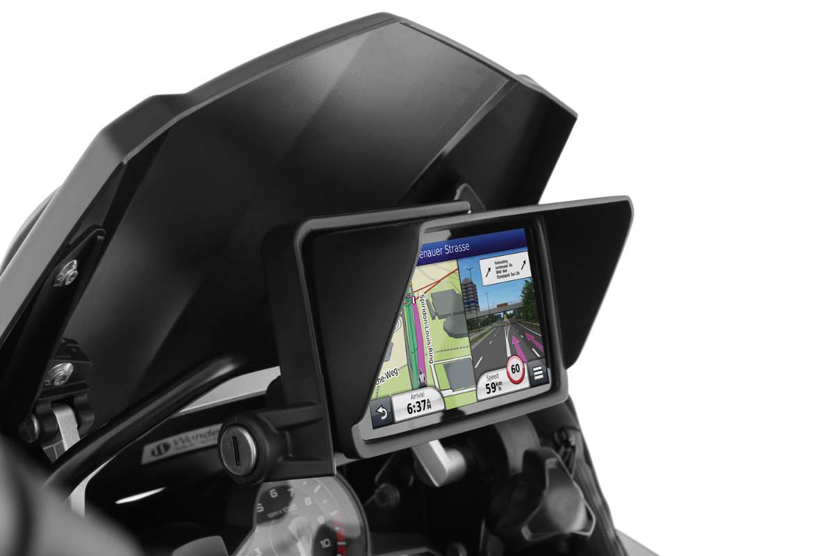 Wunderlich Glare Shield for the BMW Navigator VI Left Side
