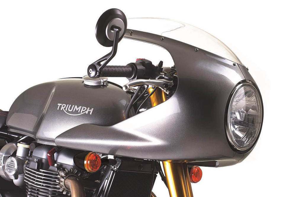 Free Track Racer Kit with a New Triumph Thruxton R Cafe Racer Fairing