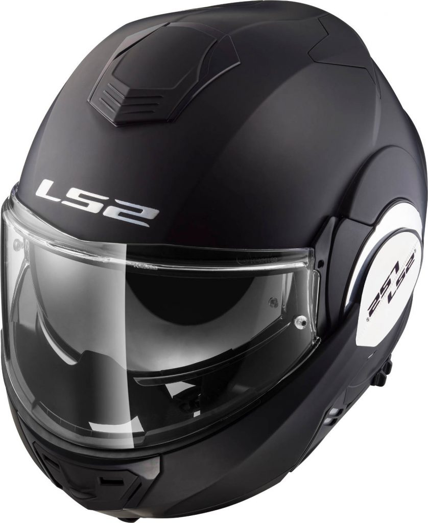 LS2 Valiant Flip-Front Motorcycle Helmet Closed Top