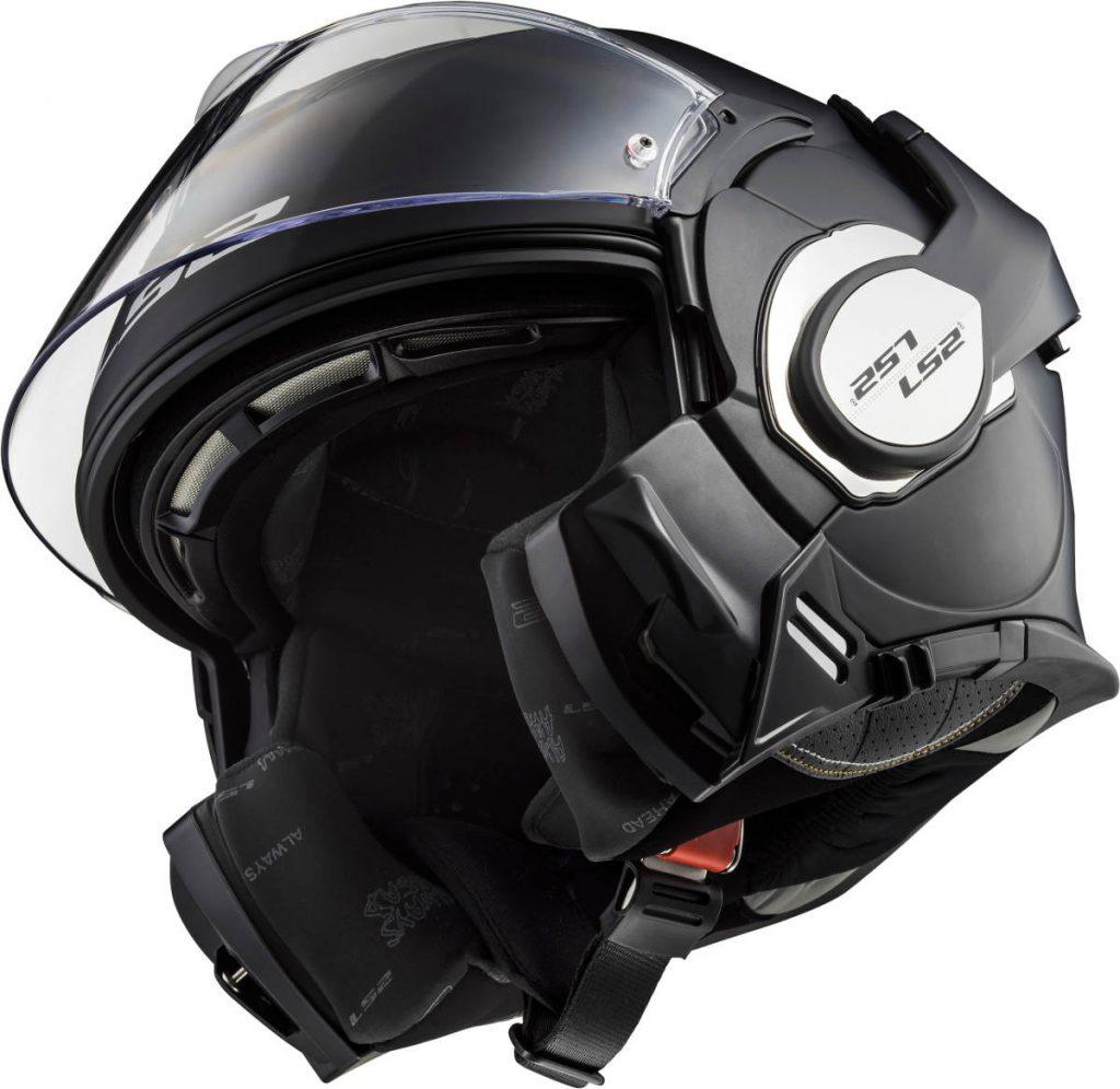 LS2 Valiant 180 Flip-Front Motorcycle Helmet Open Front