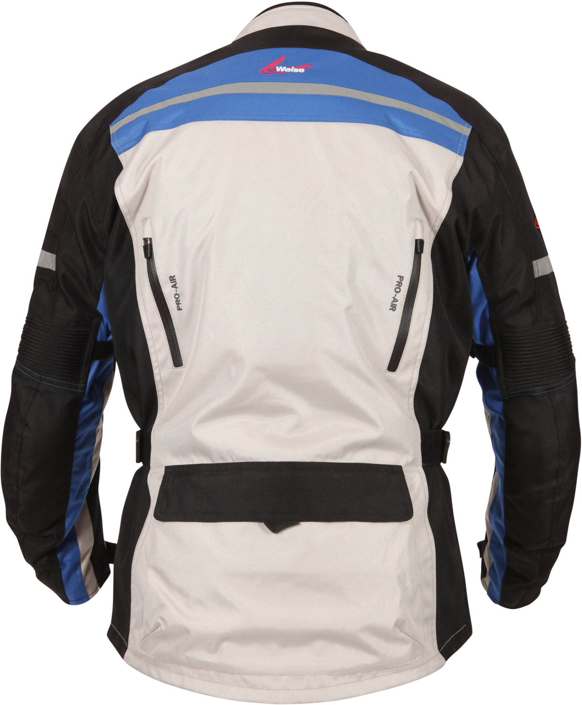 Weise Stuttgart textile Motorcycle Jacket Back Stone Blue
