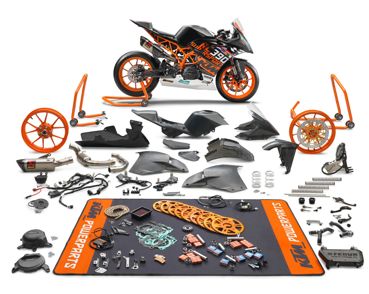 The 2018 KTM RC 390 R and Supersport SSP300 Race Kit