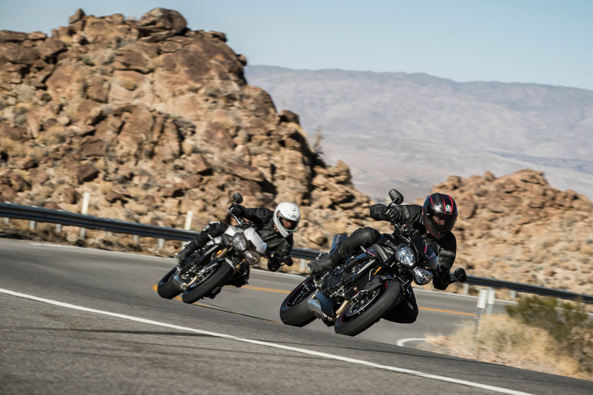 2018 Triumph Speed Triple S and RS Mountain Corner