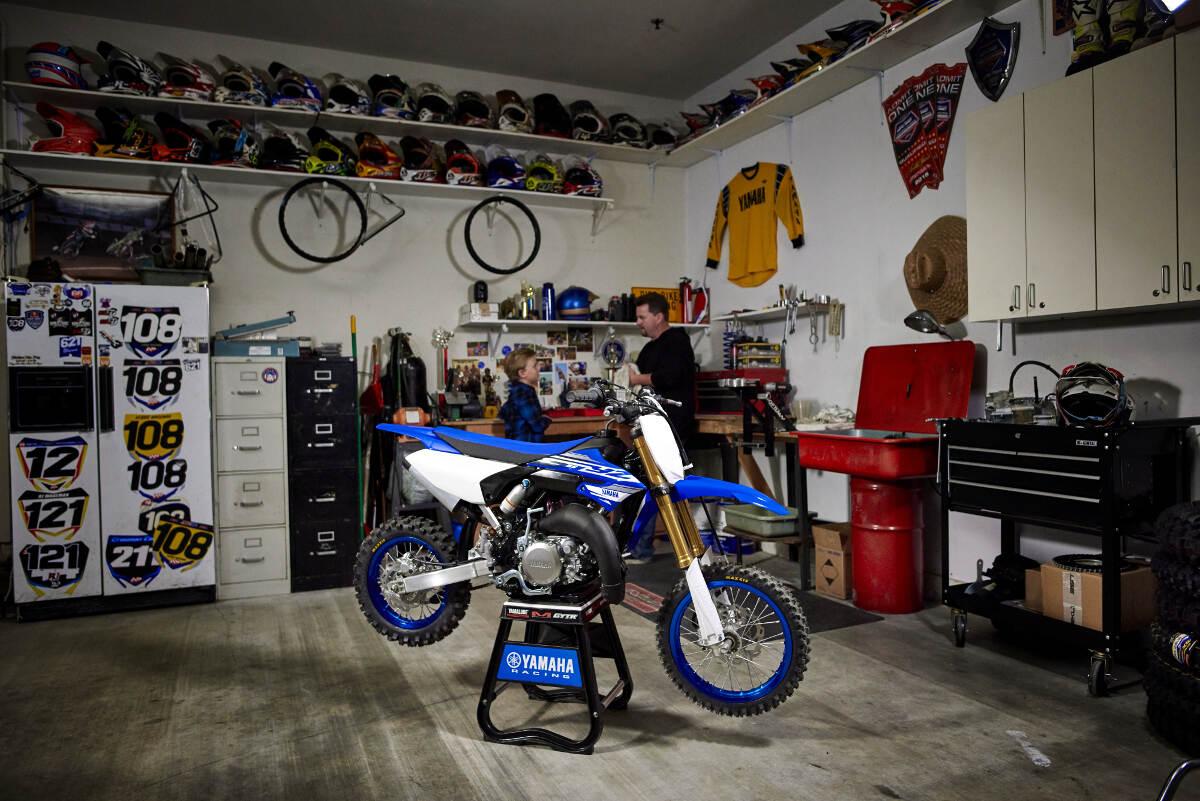 2018 Yamaha YZ65 in garage