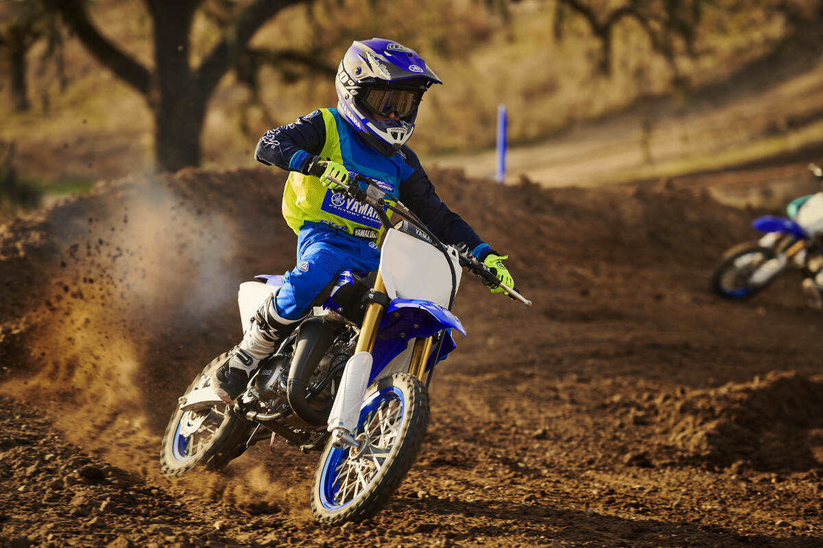 The 2018 Yamaha YZ65 cornering