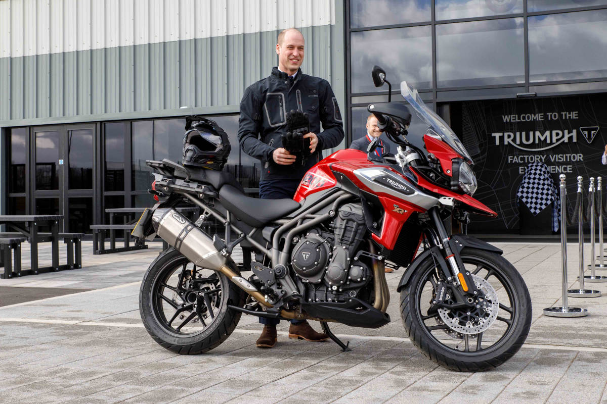 HRH Prince William Visits Triumph Motorcycles