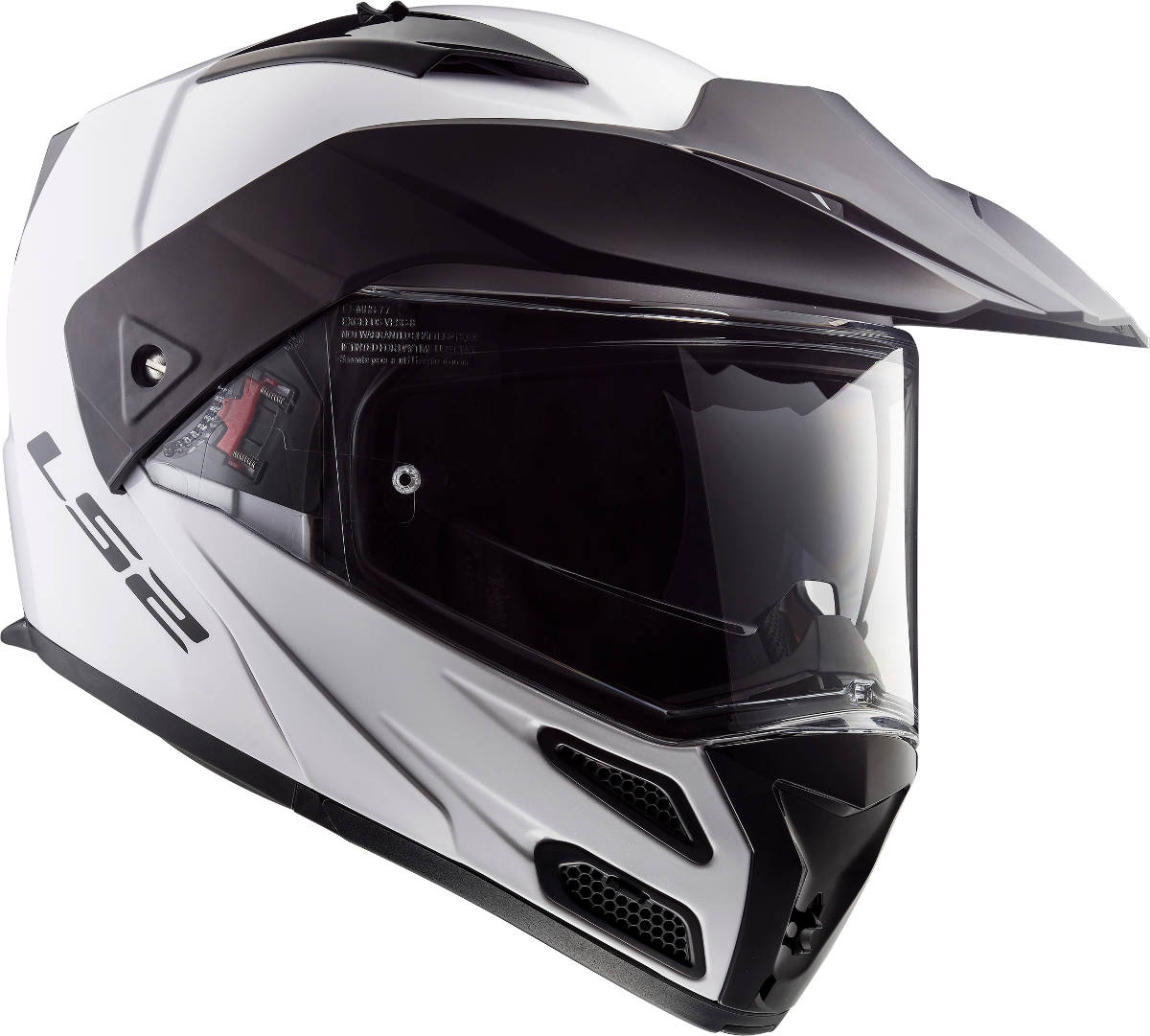 LS2 Metro Evo Helmet White With Peak