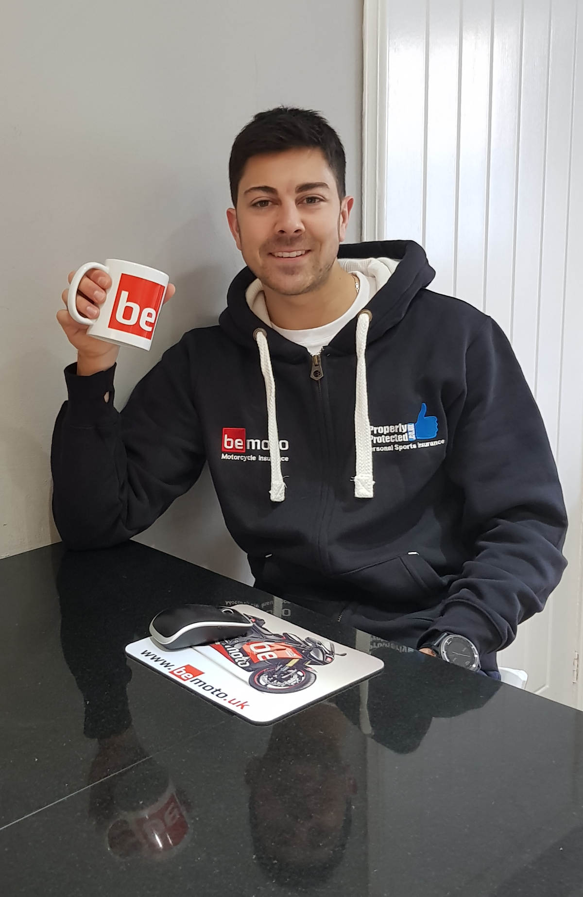 BeMoto Sponsorship for British Superbike Rider Gino Rea