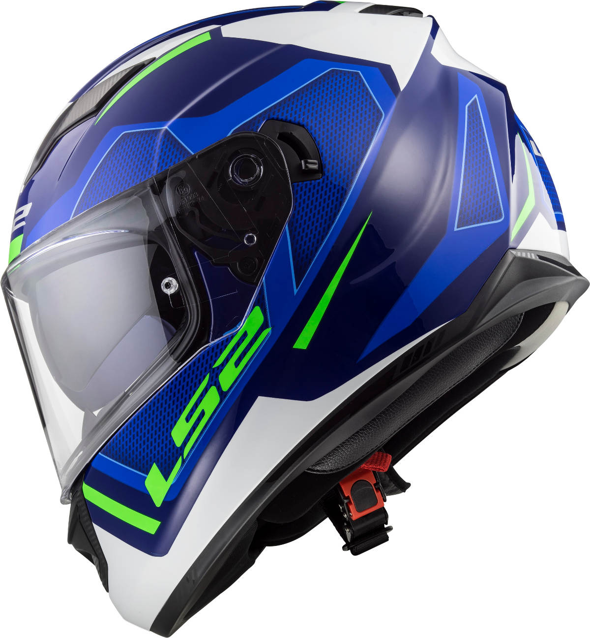 LS2 Stream Evo Helmet Axis Blue White Graphics Side