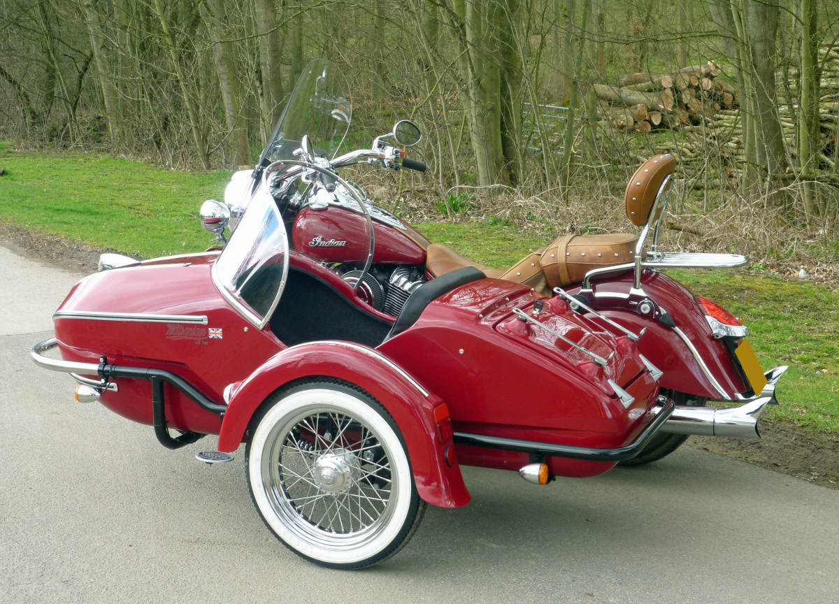 Watsonian GP700 Sidecar Now Fits New Indian Chief Vintage Rear View Showing Luggage Space