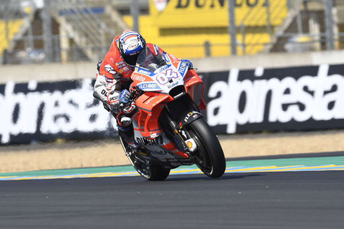 Andrea Dovizioso at Le Mans for the 2018 French MotoGP On Straight