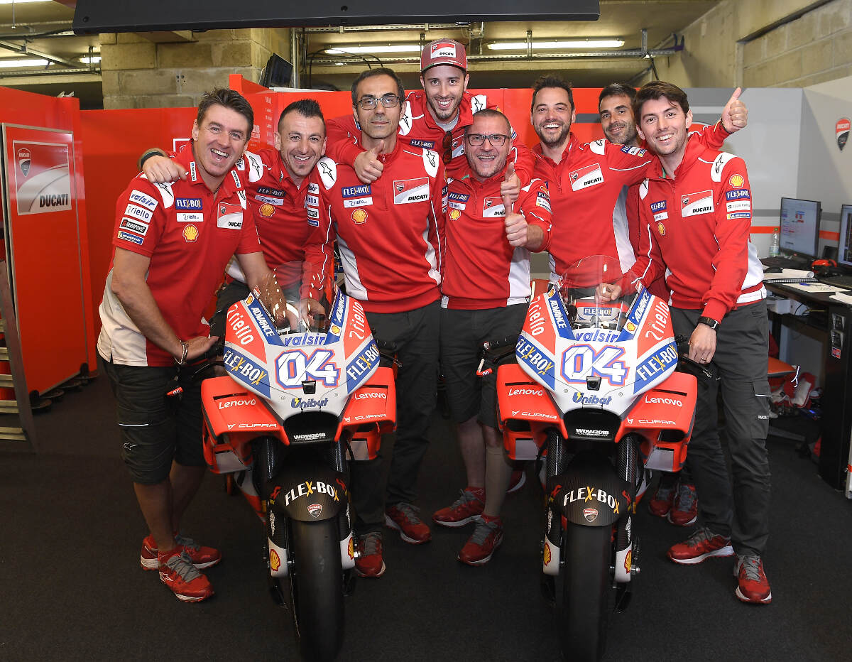 Andrea Dovizioso at Le Mans for the 2018 French MotoGP With Ducati Team
