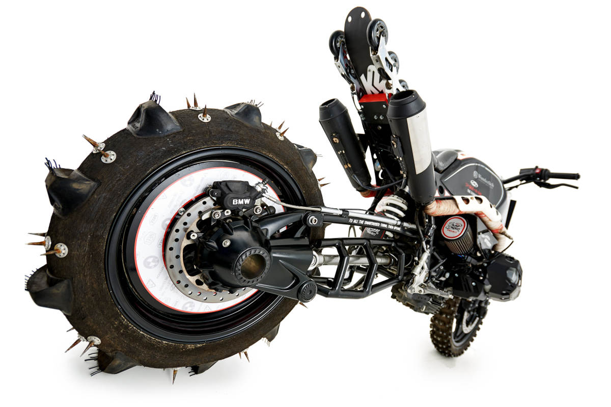 Bonkers BMW R nineT Scrambler Hillclimb Special Rear Wheel and Swingarm