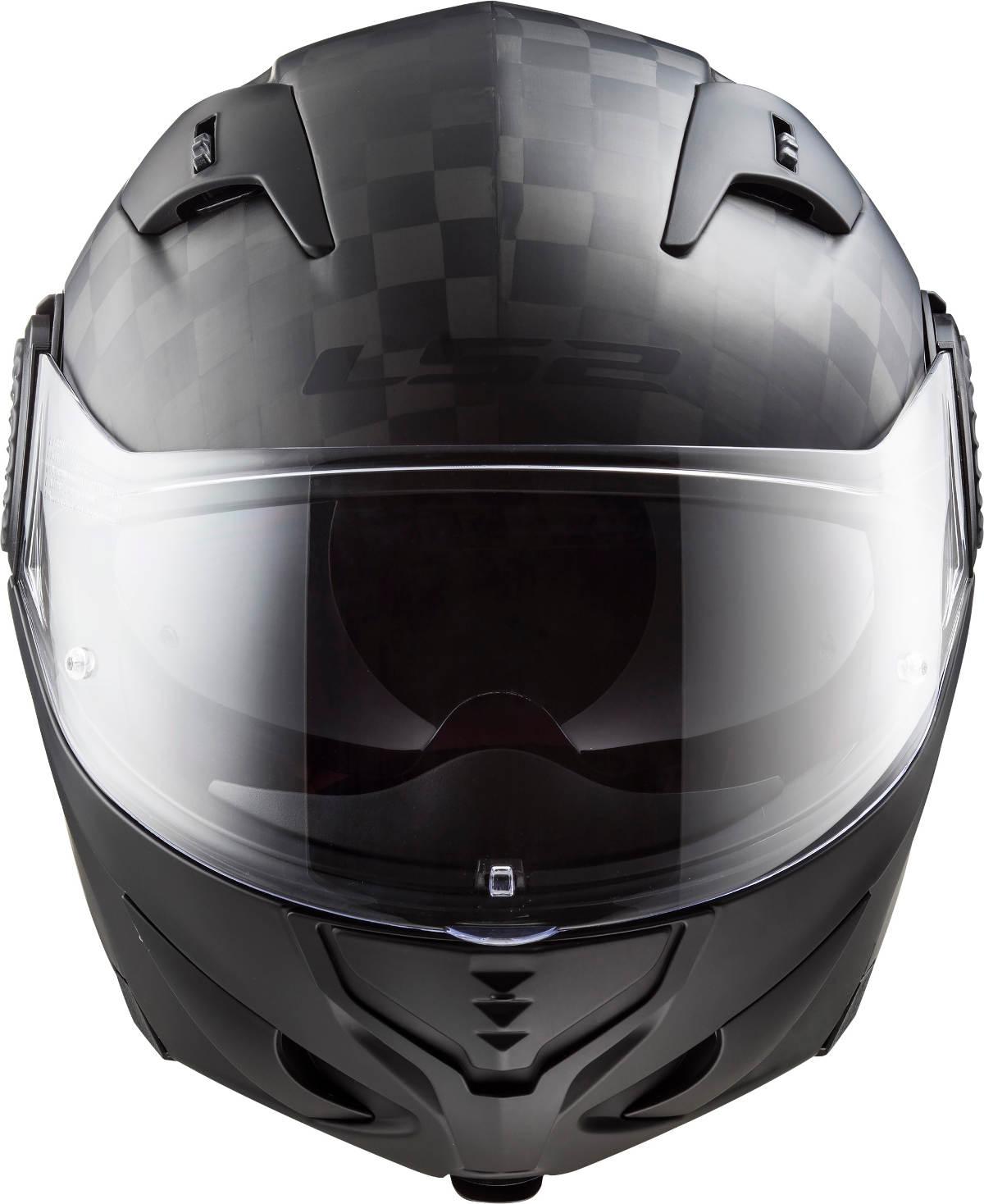 LS2 Vortex Carbon Fibre Modular Motorcycle Helmet Front