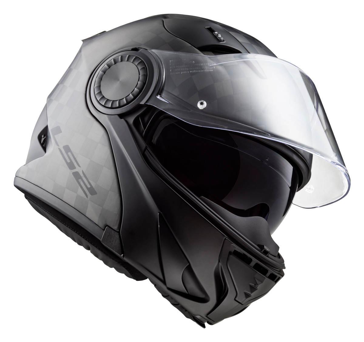 The new LS2 Vortex Carbon Fibre Modular Motorcycle Helmet
