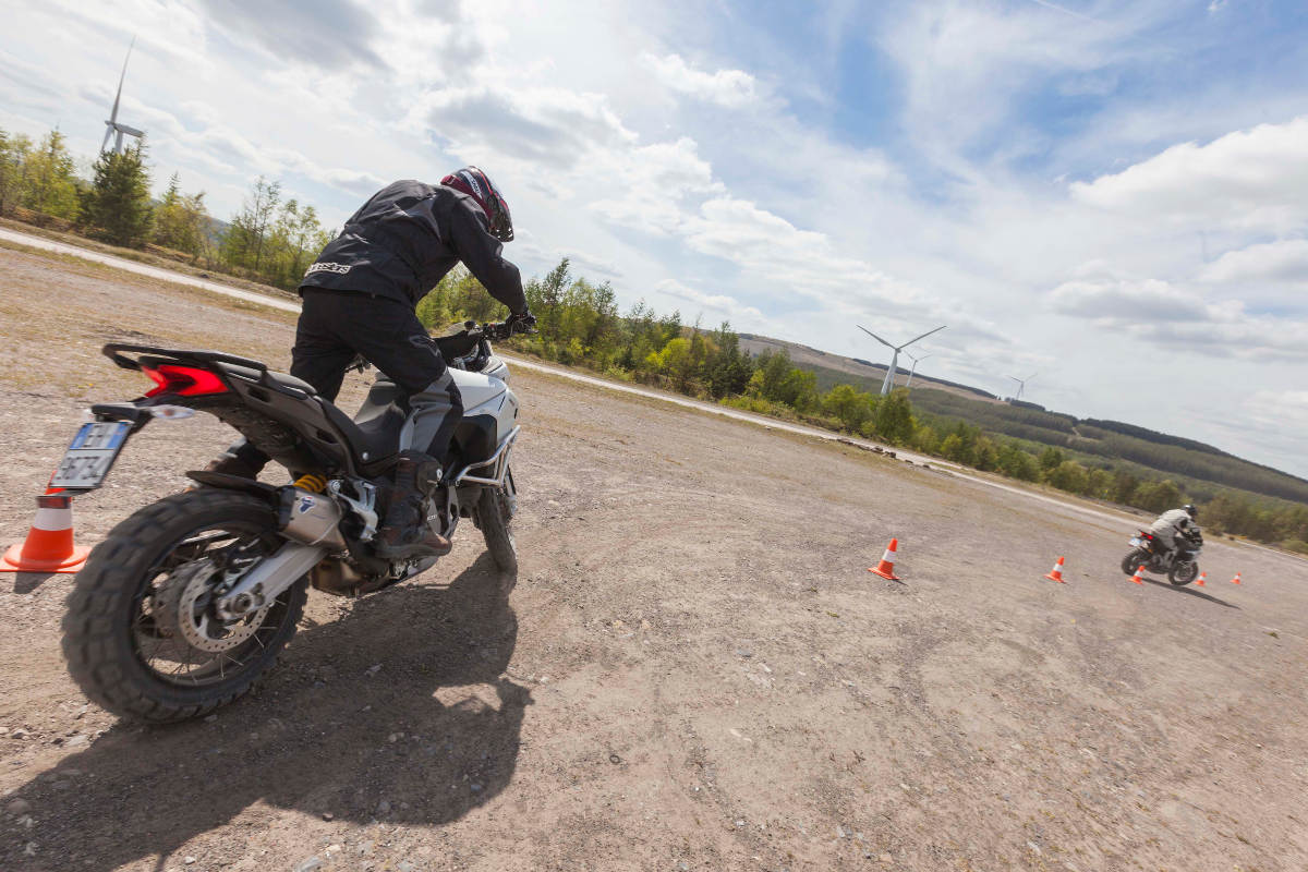The Ducati Multistrada Experience Setting Off Cone Slalom