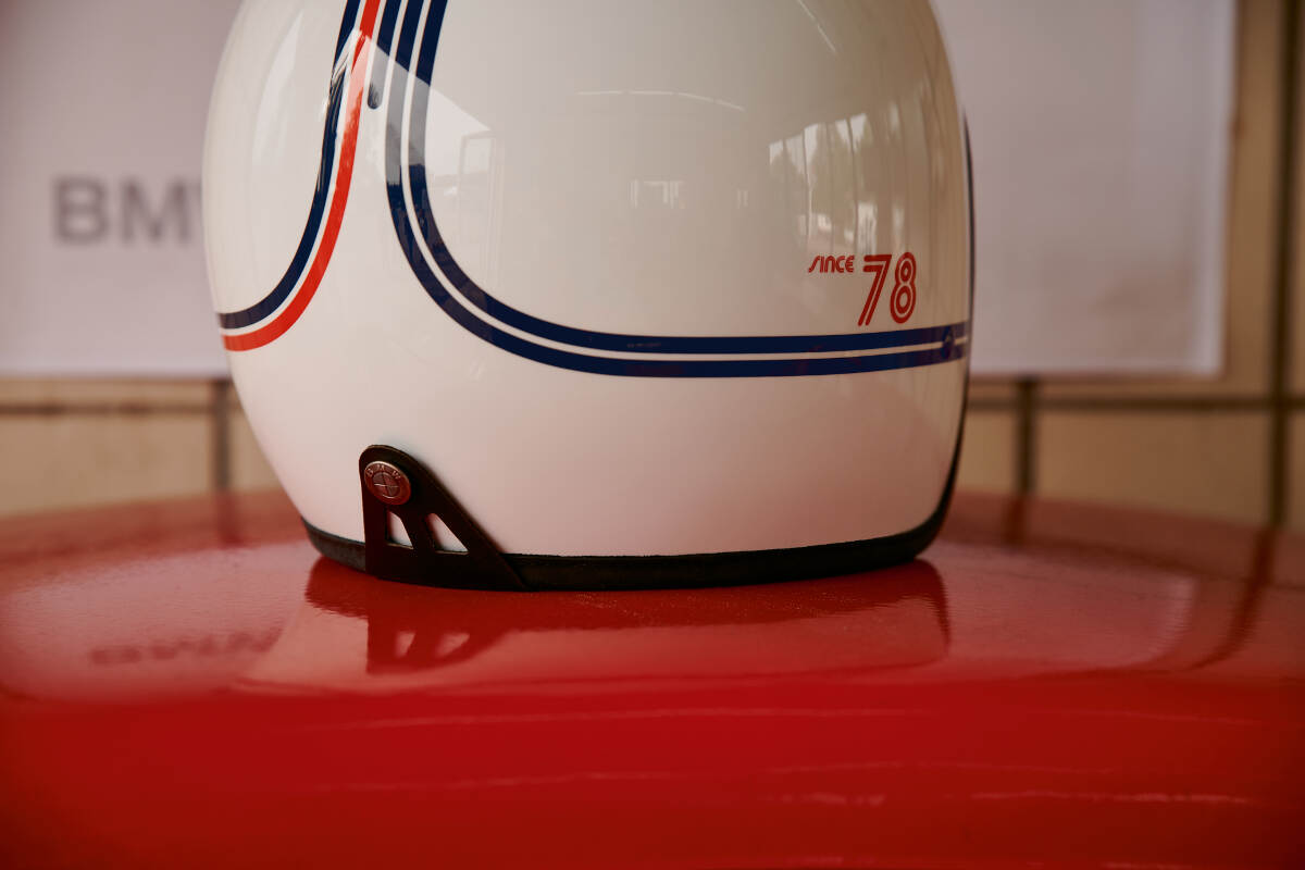 BMW Motorrad 40 Years Collection Jet Motorcycle Helmet Rear