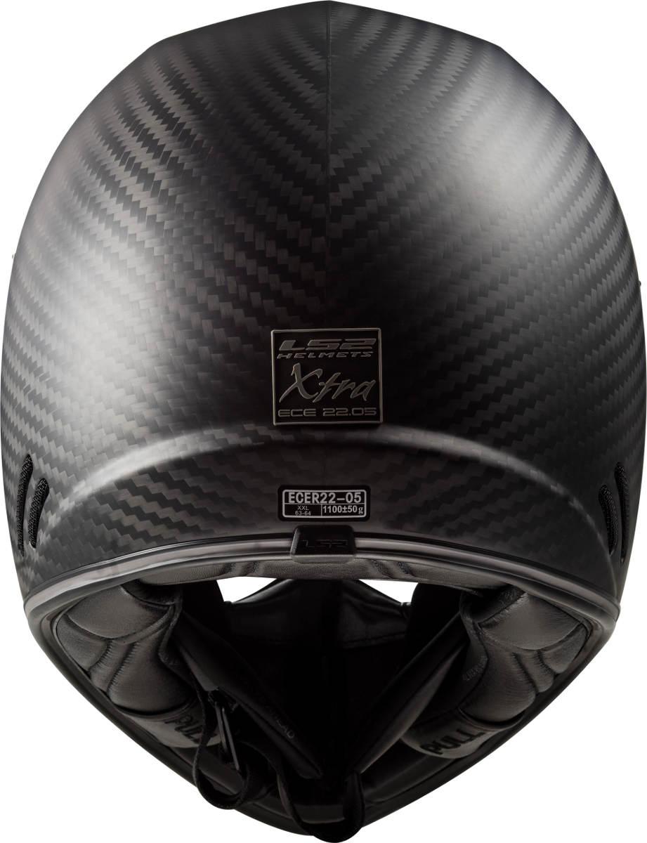 The LS2 Xtra Motorcycle Helmet Back