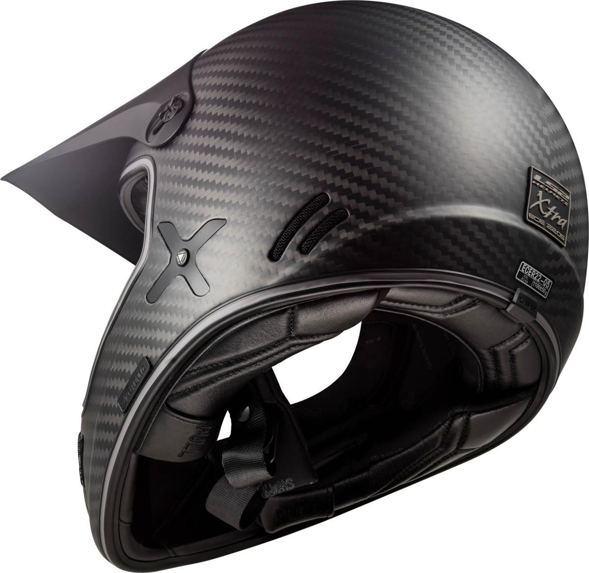The LS2 Xtra Motorcycle Helmet Rear Underside