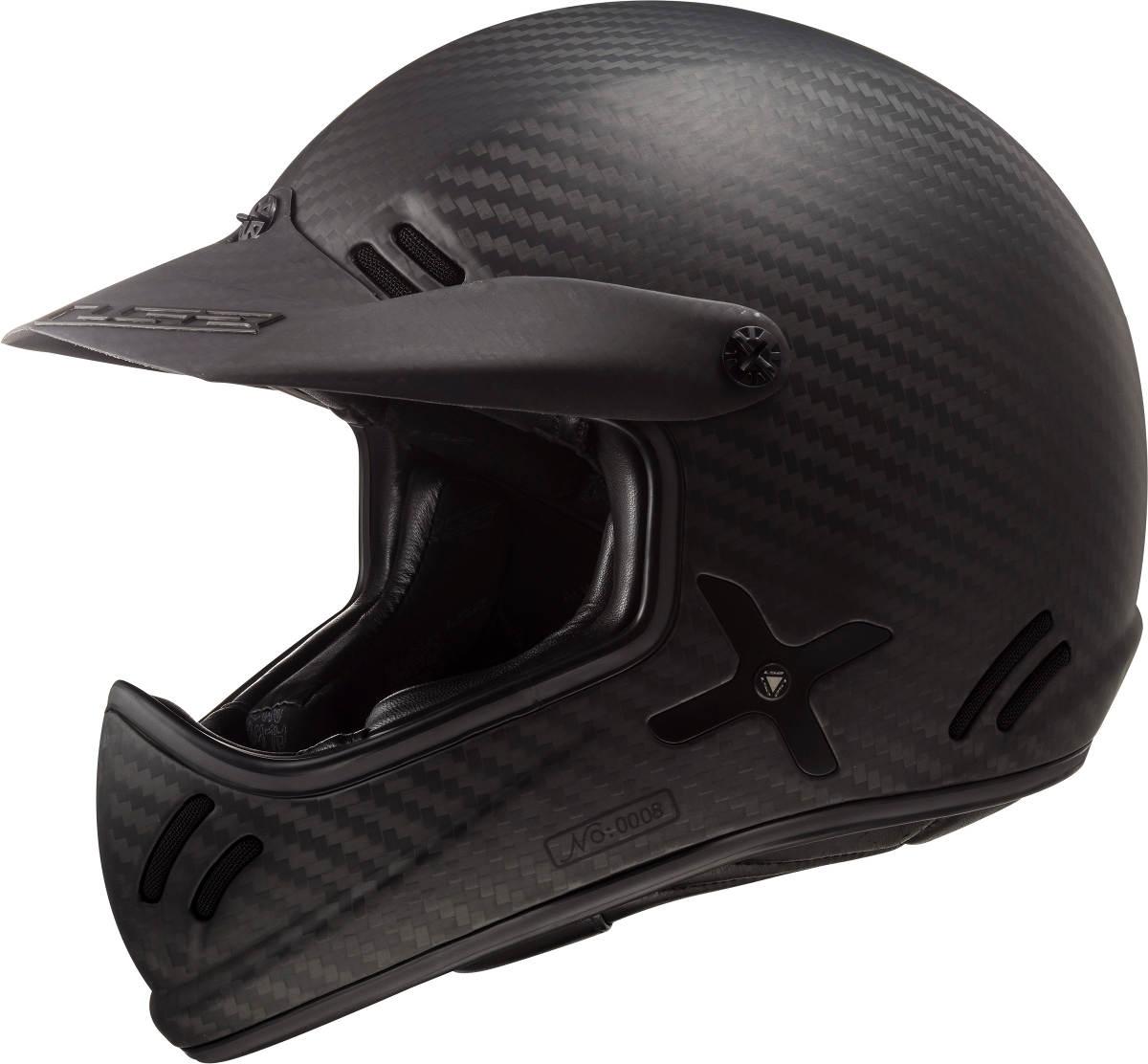 The LS2 Xtra Motorcycle Helmet Left Side