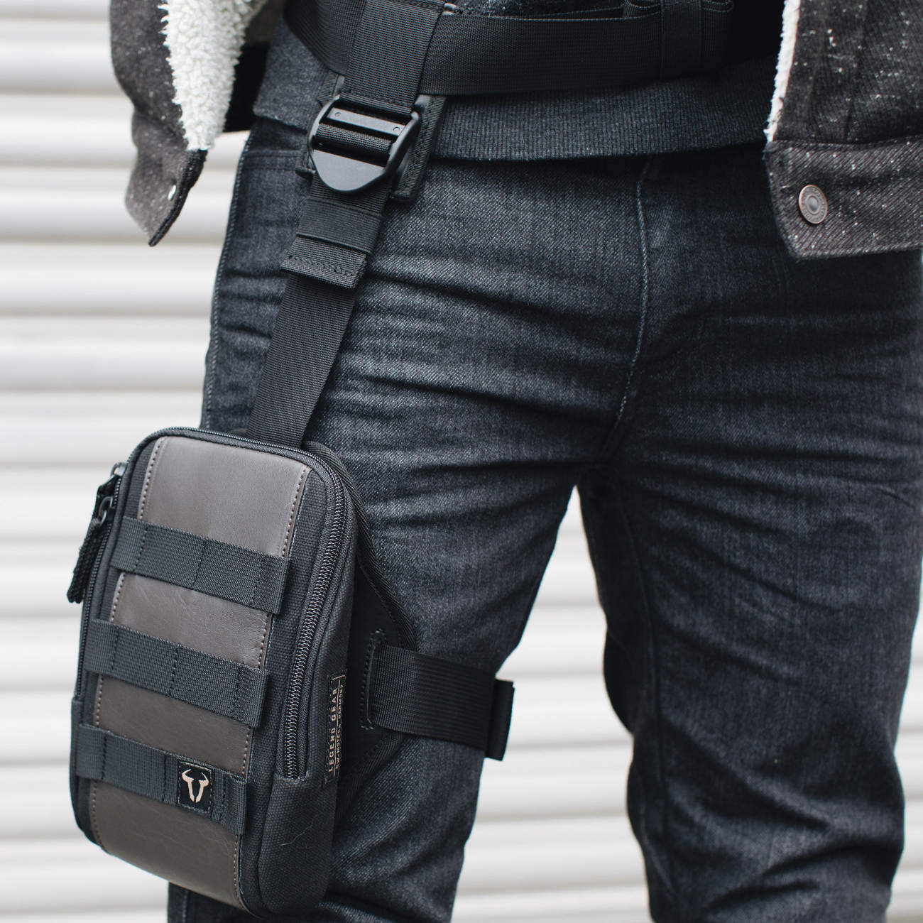 SW-Motech Legend Gear Leg Bag Being Worn