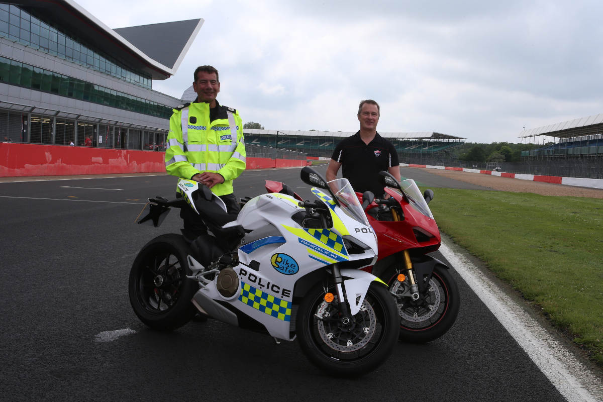 Tim Maccabee - MD, Ducati UK and Nick Adderley – Assistant Chief Constable Staffordshire and National Lead for Bikesafe