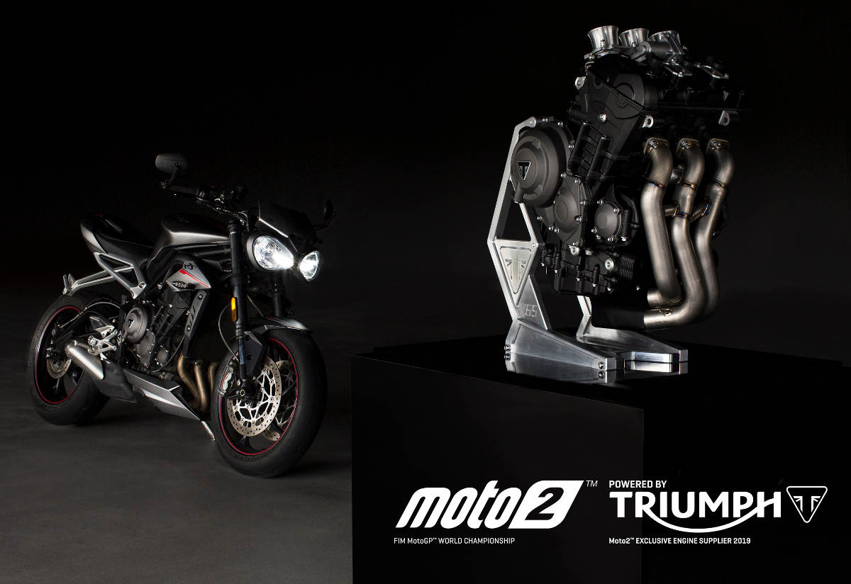 See the Triumph Moto2 Test Bike In Action At The 2018 Goodwood Festival of Speed Engine Details